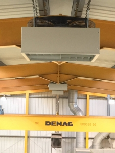 De-Stratification fan installation